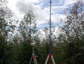 Eucalipto GPS Antena Silvicultura