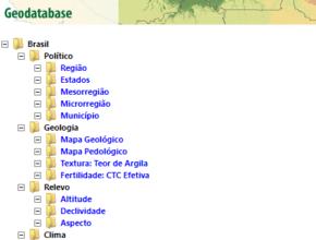 O Sistema Geodatabase do IPEF