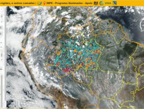 Portal de Monitoramento de queimadas e Incêndios em tempo quase-real do INPE