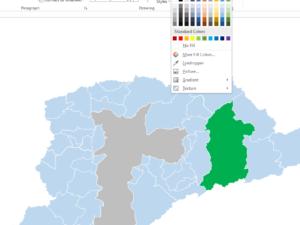 Mapa da região metropolitana de São Paulo e Distritos da Capital