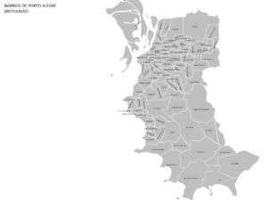 Mapa da região metropolitana de Porto Alegre e Bairros da Capital Gaúcha
