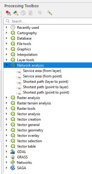 QGIS Toolbox Network