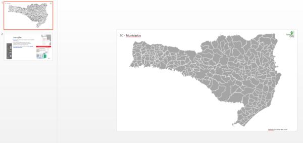 Municípios de Santa Catarina como objetos editáveis