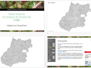 Municípios de Goiás como objetos editáveis pptx