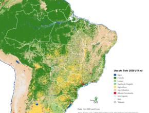 """Uso do Solo Brasil 2020 pelo """"ESRI 2020 Land Cover"""""""